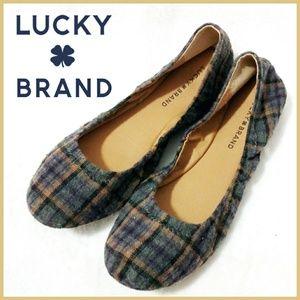 Lucky Brand Plaid Emmie Ballet Flats